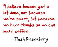 Flash Rosenberg coffee quote