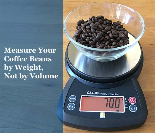 Measure coffee by weight