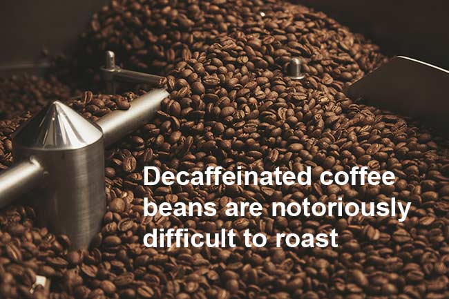 Roasting Decaf Coffee
